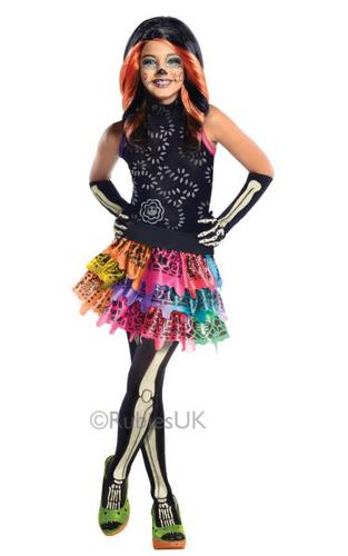 Monster High Childs Skelita Calaveras Costume Thumbnail 1