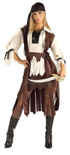 Caribbean Pirate Babe Fancy Dress Costume Thumbnail 1