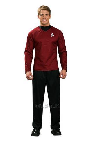 Adult Scotty Star Trek Red Shirt Thumbnail 1