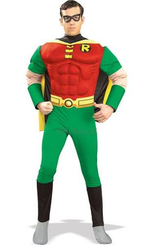 Robin Muscle Chest Fancy Dress Costume Thumbnail 1