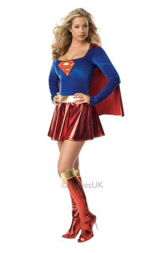 Supergirl Fancy Dress Costume Thumbnail 1