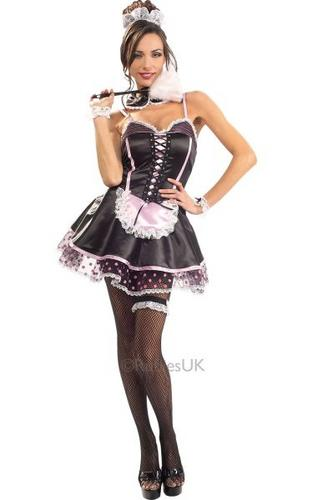 Naughty French Maid Fancy Dress Costume Thumbnail 1