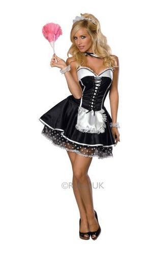 Sexy Maid Fancy Dress Costume Thumbnail 1