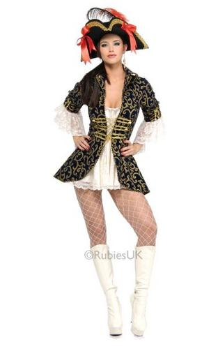 Pirate Queen Fancy Dress Costume Thumbnail 1