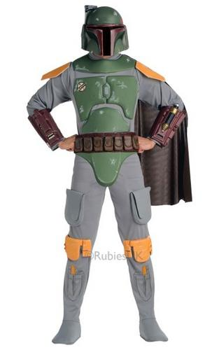 Adult Deluxe Boba Fett Fancy Dress Costume Thumbnail 1