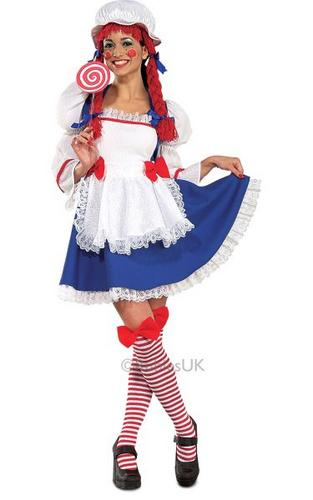 Rag Doll Fancy Dress Costume Thumbnail 1