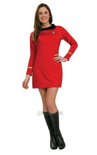 Deluxe Classic Red Star Trek Dress Thumbnail 1