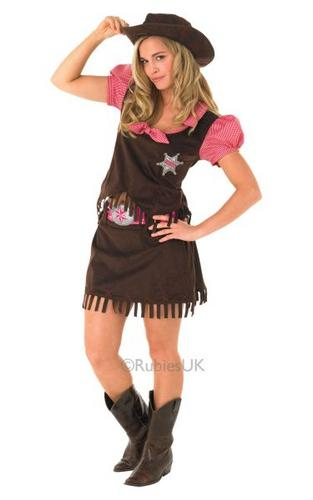 Adult Cowgirl Fancy Dress Costume Thumbnail 1