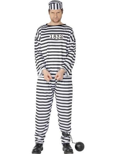Convict Fancy Dress Costume Thumbnail 1