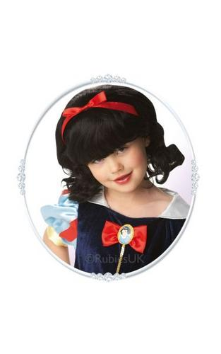 Snow White Fancy Dress Wig Kids Thumbnail 1