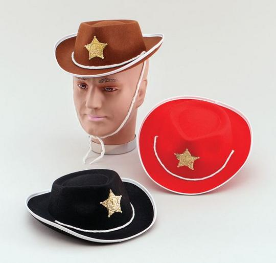 Cowboy Black Felt Childs Hat Thumbnail 1