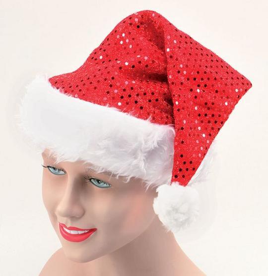 Santa Hat. Sequin Thumbnail 1