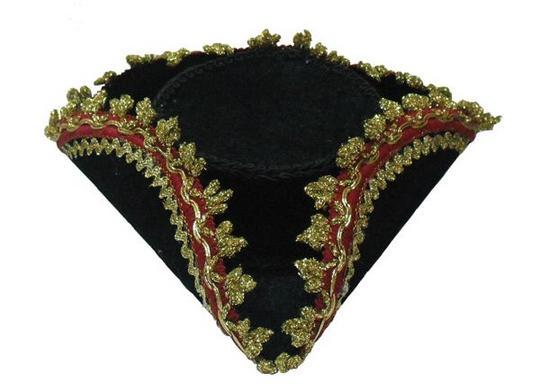 Tricorn Mini Hat + Gold Edge Thumbnail 1