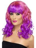Divatastic Wig, Curly Purple and Pink