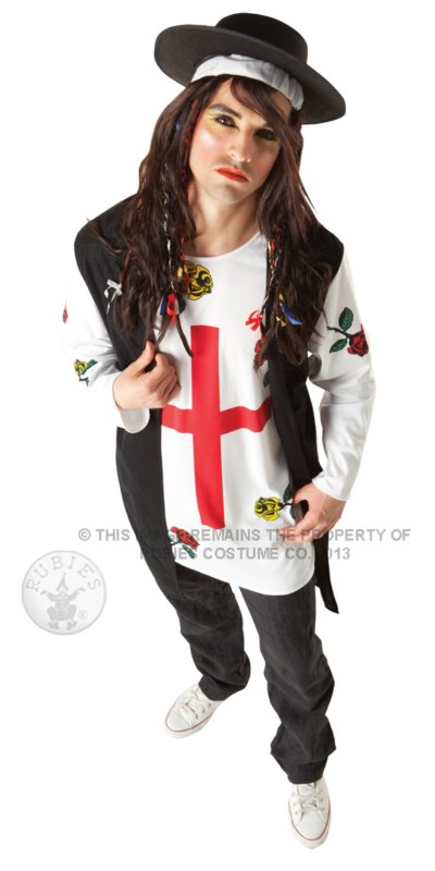 Sale Adult 80s Pop Star Boy George Style Mens Fancy Dress Costume Party Outfit Ebay
