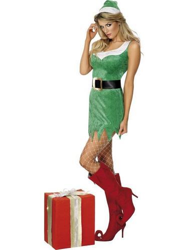 Santas Sexy Little Helper Fancy Dress Costume Thumbnail 2