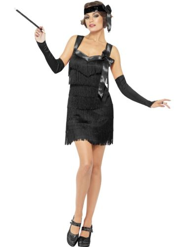 NEW Adult 1920s Charleston 20s Foxy Flapper Ladies Fancy Dress Hen Party Costume