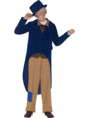 Kids-Victorian-Dickensian-Artful-Dodger-Oliver-Boy-Book-Week-Fancy-Dress-Costume