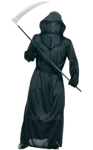 Black Mesh Face Robe