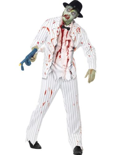 Adult Male Zombie Gangster Costume