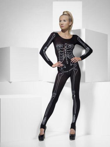 Ladies Skeleton Print Bodysuit
