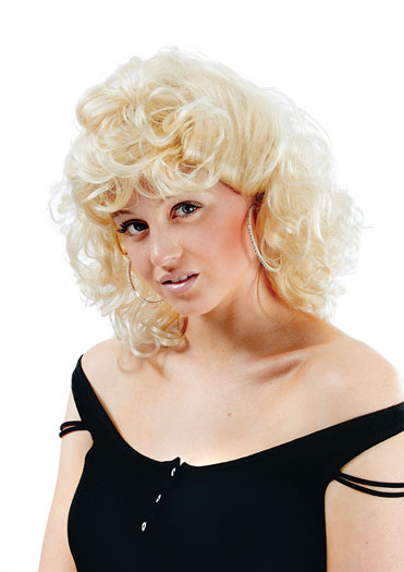 50s High School Curly Wig. Blonde