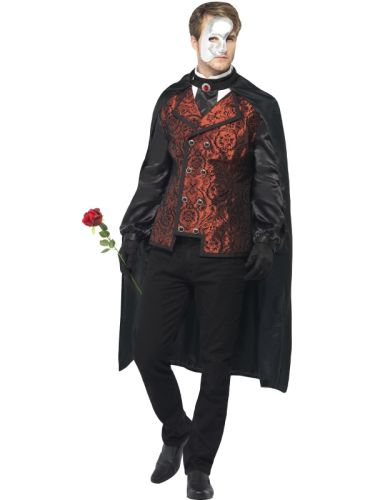 Males Dark Opera Masquerade Costume Thumbnail 1