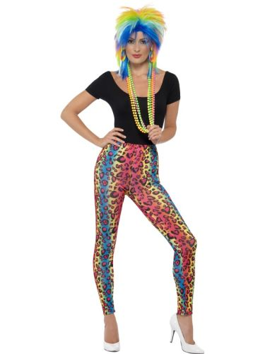 Neon Leopard Print Leggings Thumbnail 1