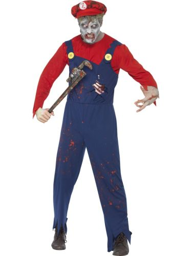 Adult Zombie Plumber Costume Thumbnail 1