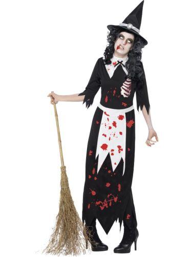 Adult Zombie Authentic Salem Witch Costume Thumbnail 1