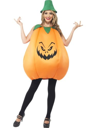 Adult Unisex Pumpkin Costume Thumbnail 2