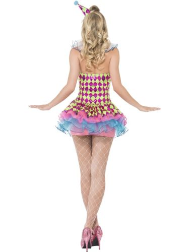 Fever Neon Harlequin Clown Costume Thumbnail 3
