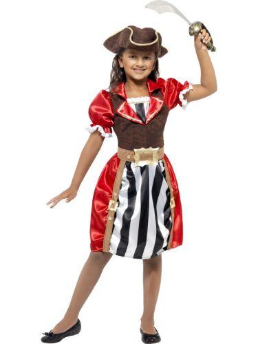 Girls Pirate Captain Costume Thumbnail 1