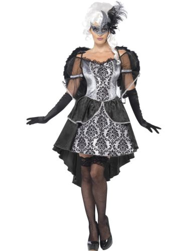 Ladies Dark Angel Masquerade Costume Thumbnail 1