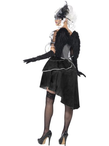 Ladies Dark Angel Masquerade Costume Thumbnail 2