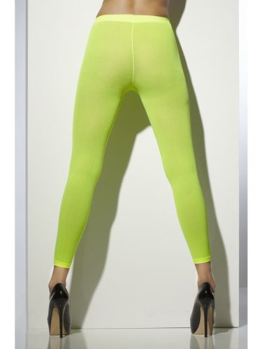 Opaque Footless Tights Neon Green Thumbnail 1