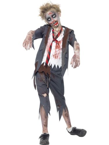 Zombie School Boy Costume Thumbnail 1