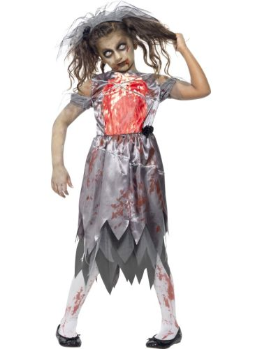 Childs Zombie Bride Costume Thumbnail 1