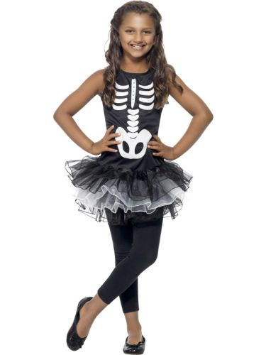 Girls Skeleton Tutu Costume Thumbnail 1