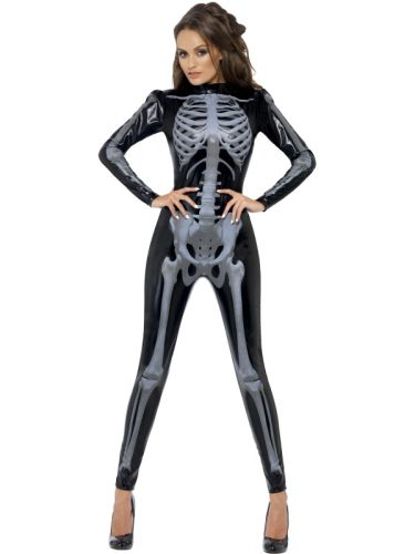 Fever Skeleton Catsuit  Costume Thumbnail 1