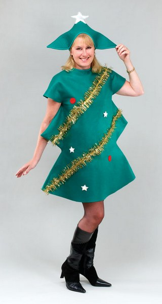 Adult Christmas Tree Fancy Dress Costume Thumbnail 1