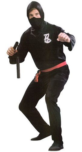 Men's Ninja Fancy Dress Costume Thumbnail 1