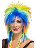 80's Rainbow Punk Wig
