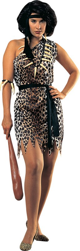 Sexy Cavewoman Leopard Jungle Jane Ladies Fancy Dress Hen Party Costume Outfit