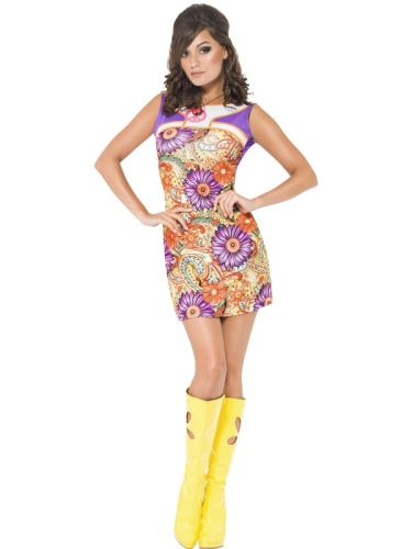 Fever 1960s Peace Love Costume