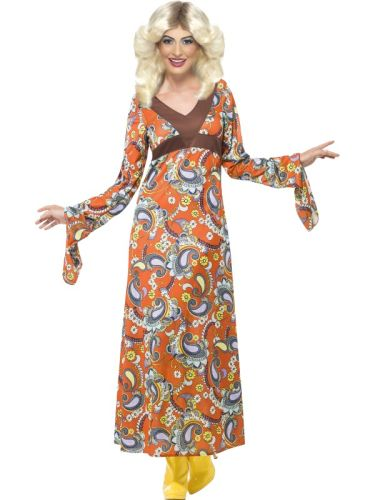 Adult ladies Woodstock Maxi Dress Thumbnail 1