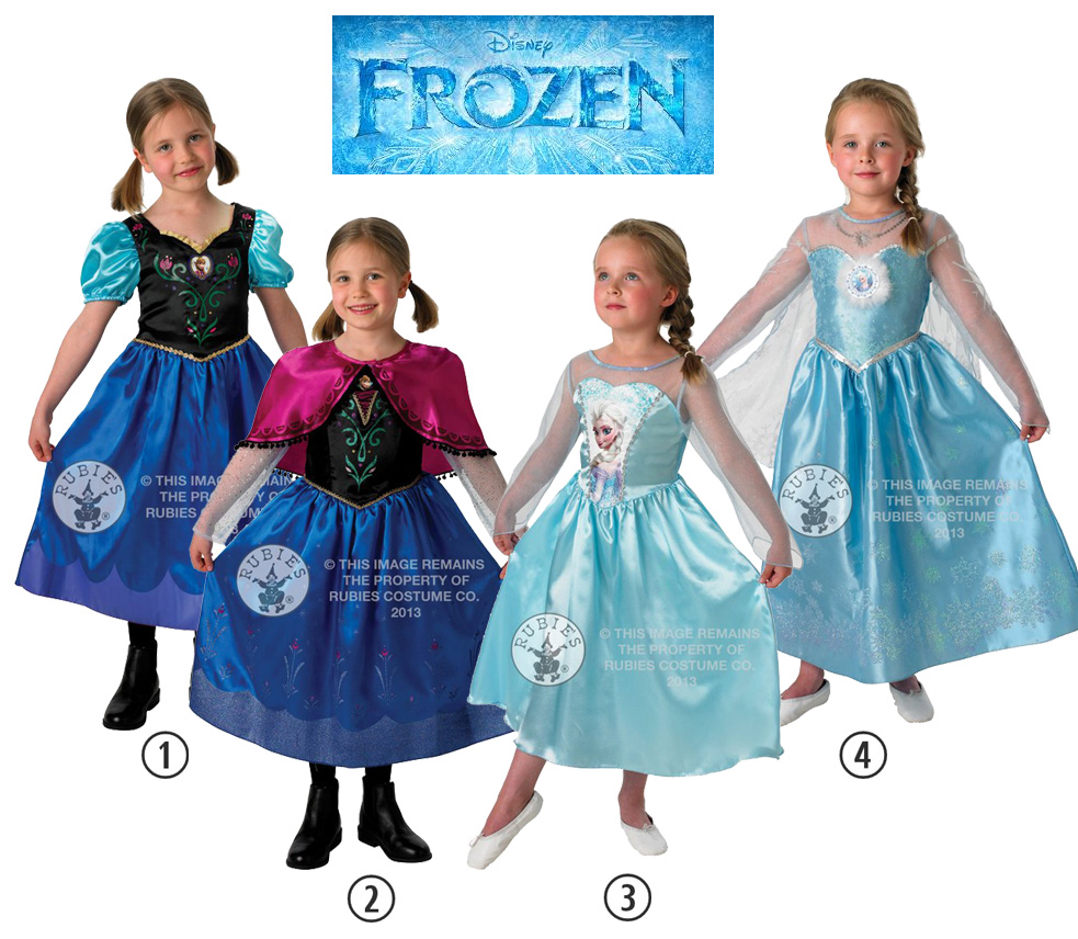 Image is loading SALE-Kids-Licensed-Disney-Frozen-Anna-or-Elsa-  sc 1 st  eBay & SALE! Kids Licensed Disney Frozen Anna or Elsa Girls Fancy Dress ...