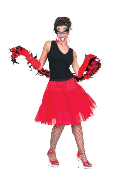 Adult Petticoat Long Red (Universal Size)