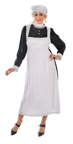 SALE! Adult Victorian French Maid Ladies Fancy Dress Costume Party Outfit