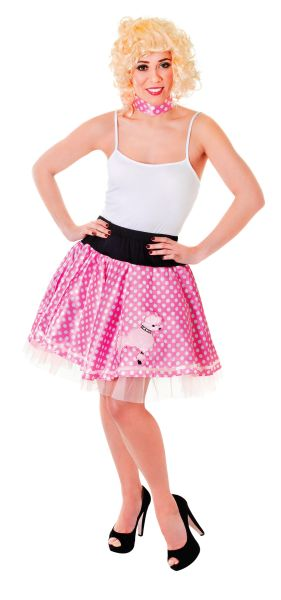 Poodle Skirt Pink/White